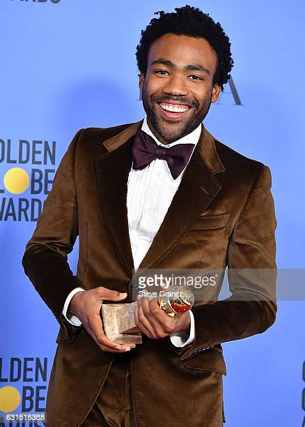 Donald Glover poses at the 74th Annual Golden Globe Awards at The Beverly Hilton Hotel on January 8, 2017 in Beverly Hills, California.