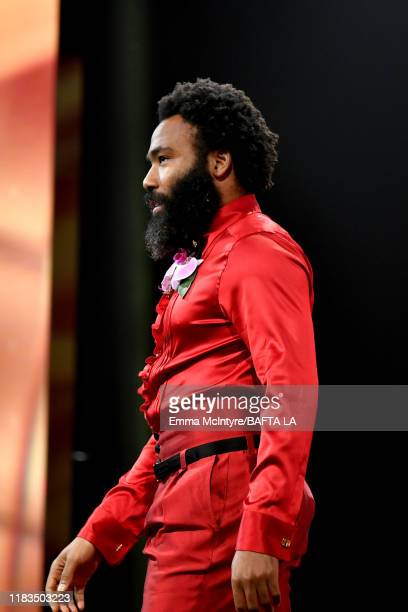 Donald Glover speaks onstage during the 2019 British Academy Britannia Awards presented by American Airlines and Jaguar Land Rover at The Beverly...