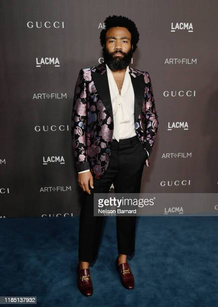 Donald Glover, wearing Gucci, attends the 2019 LACMA Art + Film Gala Presented By Gucci at LACMA on November 02, 2019 in Los Angeles, California.