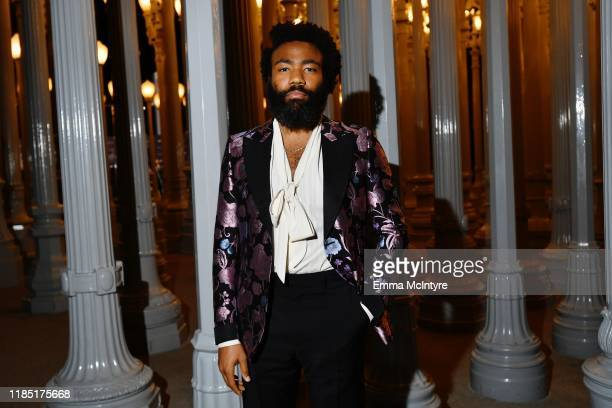 Donald Glover wearing Gucci attends the 2019 LACMA Art Film Gala Presented By Gucci at LACMA on November 02 2019 in Los Angeles California