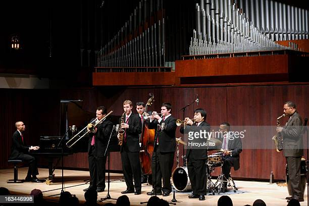 Donald Harrison far right with Juilliard Jazz Ensemble at Paul Hall on Monday night February 12 2007