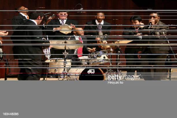 Donald Harrison far right with Juilliard Jazz Ensemble at Paul Hall on Monday night February 12 2007