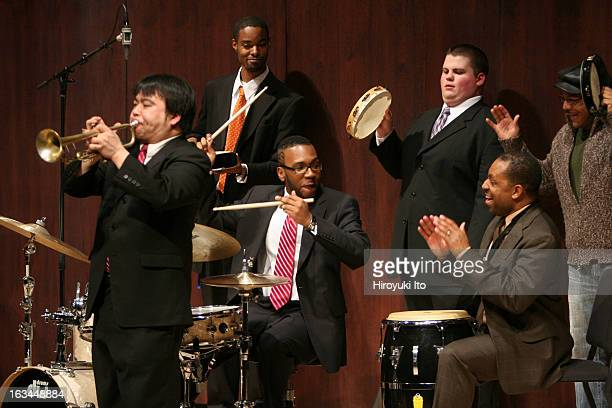 Donald Harrison second from right with Juilliard Jazz Ensemble at Paul Hall on Monday night February 12 2007