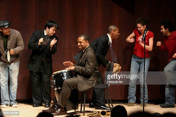 Donald Harrison third from left with Juilliard Jazz Ensemble at Paul Hall on Monday night February 12 2007