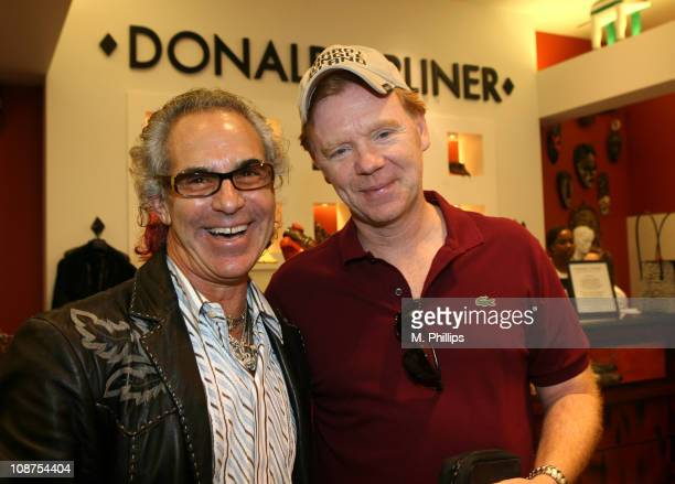 Donald J Pliner and David Caruso during Donald J Pliner Instore To Benefit Cure Autism Now in Los Angeles California United States