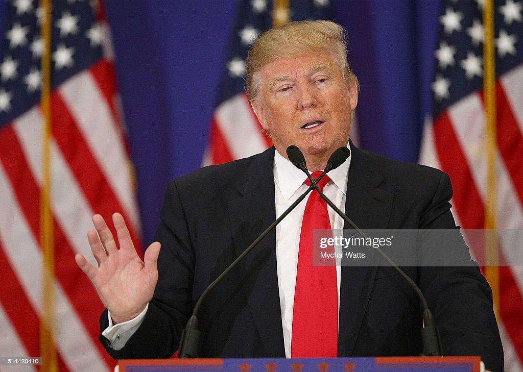 Donald J. Trump Press Conference : News Photo