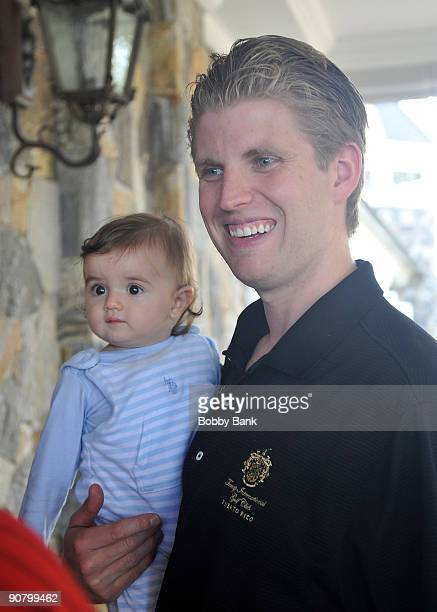 Donald John Trump III and Eric Trump attends the 3rd annual Eric Trump Foundation Golf Invitational at the Trump National Golf Club Westchester on...