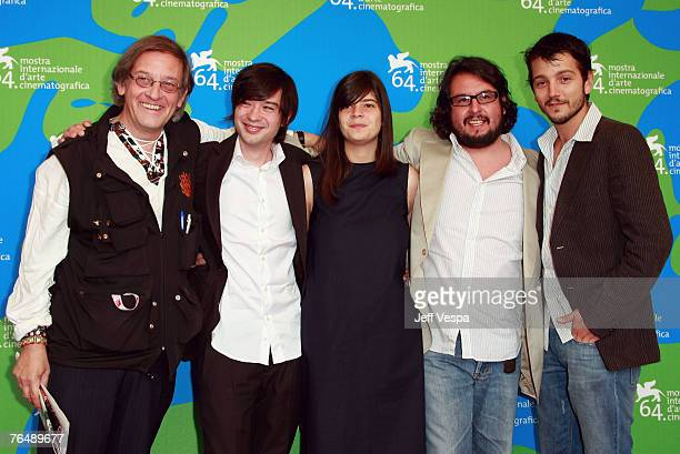 Donald K Ranvaud Israel Cardenas Laura Amelia Guzman Pablo Cruz and Diego Luna attend the Cochochi Photocall during Day 6 of the 64th Annual Venice...
