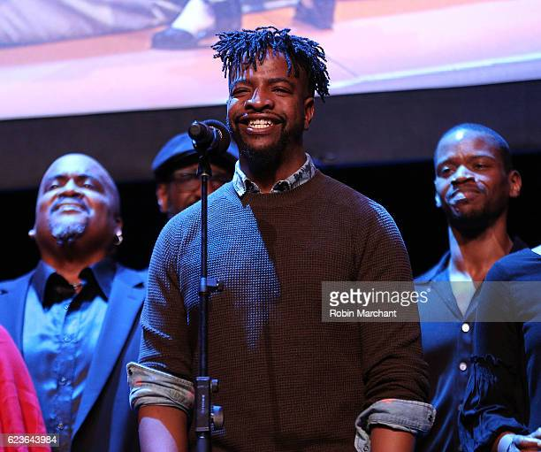 Donald King Jr performs onstage at 'The First Noel' Sneak Peek at The Apollo Theater on November 16 2016 in New York City