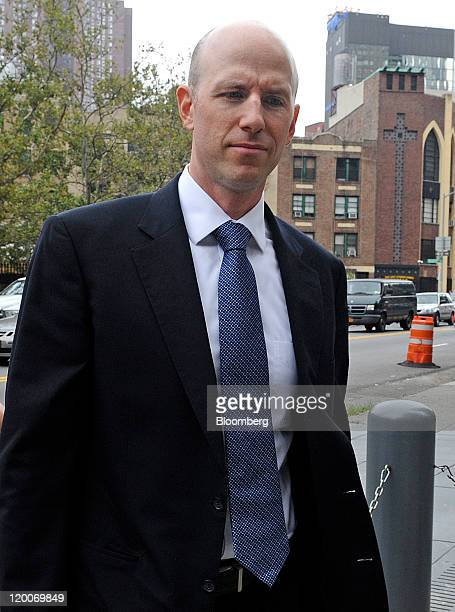 Donald Longueuil, a former portfolio manager with SAC Capital Advisors LP, arrives at federal court for a sentencing hearing in New York, U.S., on...