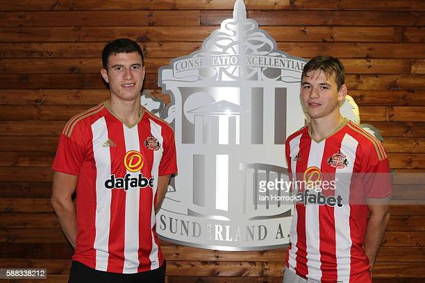 Donald Love and Paddy McNair after completing thier transfer from Manchester United to Sunderland AFC pictured at The Academy of Light on August 10,...