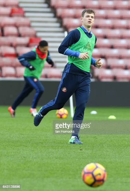 Donald Love during a Sunderland Open Training Session at the Stadium of Light on February 20 2017 in Sunderland England