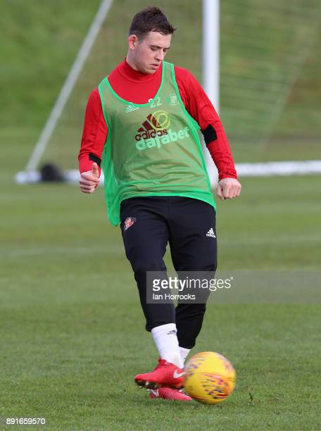 Donald Love during a Sunderland training session at The Academy of Light on December 13 2017 in Sunderland England