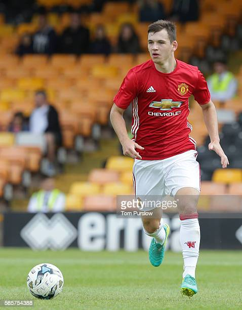 Donald Love of Manchester United U21s in action during the preseason friendly between Port Vale and Manchester United U21s at Vale Park on July 30...