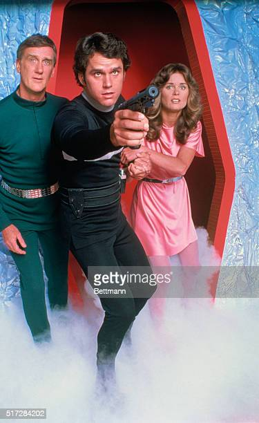 Donald Moffat Gregory Harrison and Heather Menzies in TV Show Logan's Run