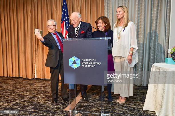 Donald Newhouse Leonard A Lauder Alice Shure and Bonnie Pfeifer Evans attend Alzheimer's Drug Discovery Foundation Seventh Annual Fall Symposium...