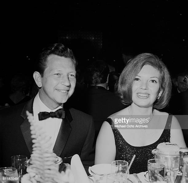 Donald O'Connor and wife Gloria Noble attend an event in Los AngelesCA