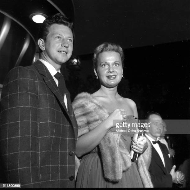 Donald O'Connor and wife Gwen Carter O'Conner attend an after party at Mocambo's in Los AngelesCA