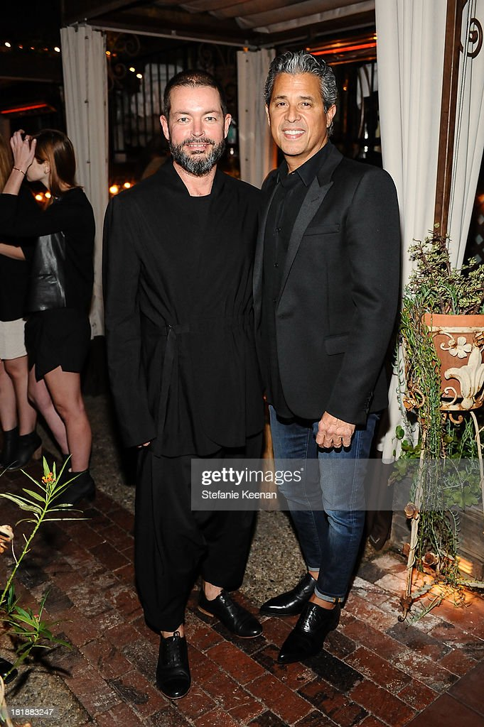 Donald Oliver and Jeff Rudes attend an intimate dinner event hosted by Elle magazine and J Brand at Petit Ermitage Hotel on September 25, 2013 in West Hollywood, California.