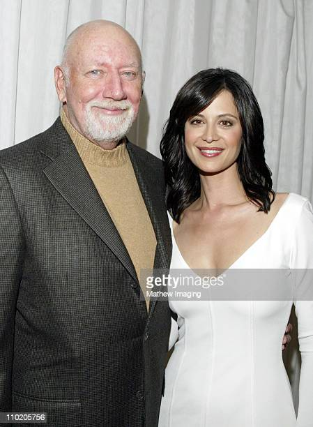 Donald P Bellisario and Catherine Bell during 'JAG' Celebrates 200th Episode and Nine Successful Seasons at The Mondrian/Asia de Cuba in West...