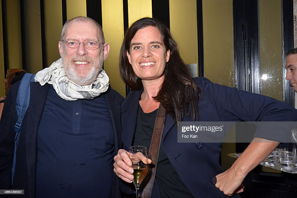 Donald Potard and Claudia Huidobro attend the World Press 2015 Exhibition Preview at Galerie Azzedine Alaia on September 3, 2015 in Paris, France.