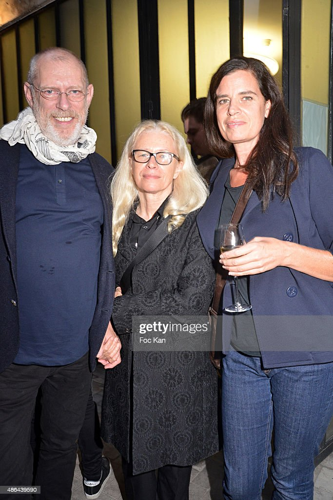 Donald Potard, Dominique Issermann and Claudia Huidobro attend the World Press 2015 Exhibition Preview at Galerie Azzedine Alaia on September 3, 2015 in Paris, France.