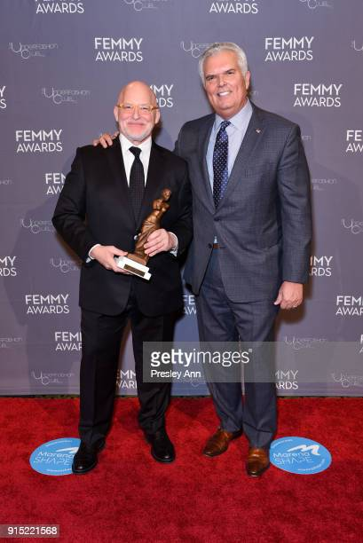 Donald R Allen Jr and Less Hall attend 2018 Femmy Awards hosted by Dita Von Teese on February 6 2018 in New York City