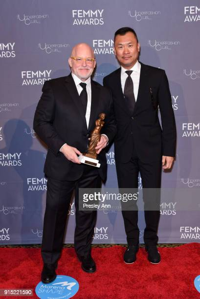 Donald R Allen Jr and Matthew Lamb attend 2018 Femmy Awards hosted by Dita Von Teese on February 6 2018 in New York City