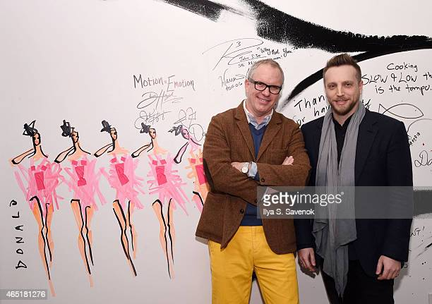 Donald Robertson and Ariel Foxman attend the AOL BUILD Speaker Series In Conversation with Donald Robertson and Ariel Foxman at AOL Studios In New...