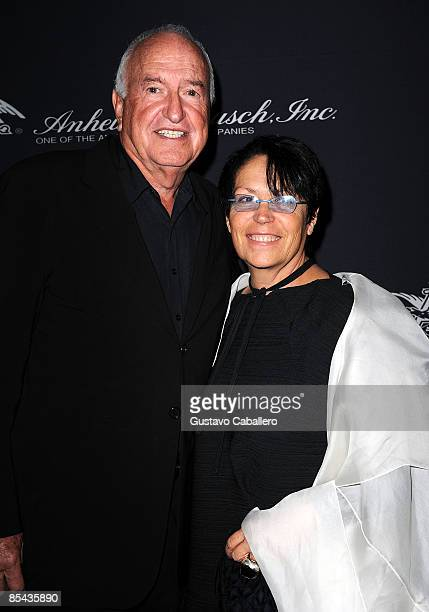 Donald Rubell and Mera Rubell attend the Russell Simmons Rush Philanthropic Arts Foundation Art For Life at Fontainebleau Hilton on March 14 2009 in...