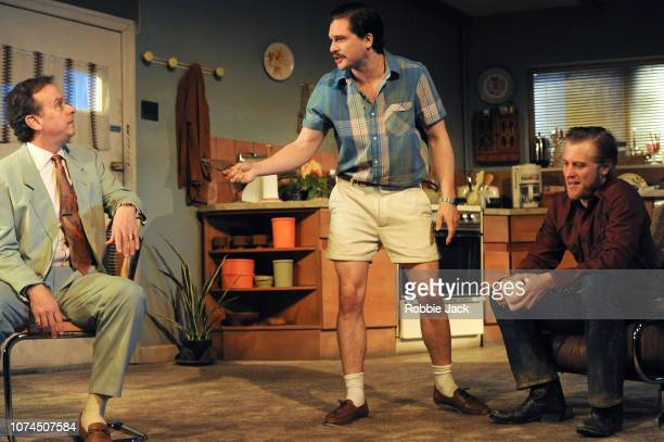 Donald Sage Mackay as Sau Kit Harington as Austin and Johnny Flynn as Lee in Sam Shepard's True West directed by Matthew Dunster at the Vaudeville...