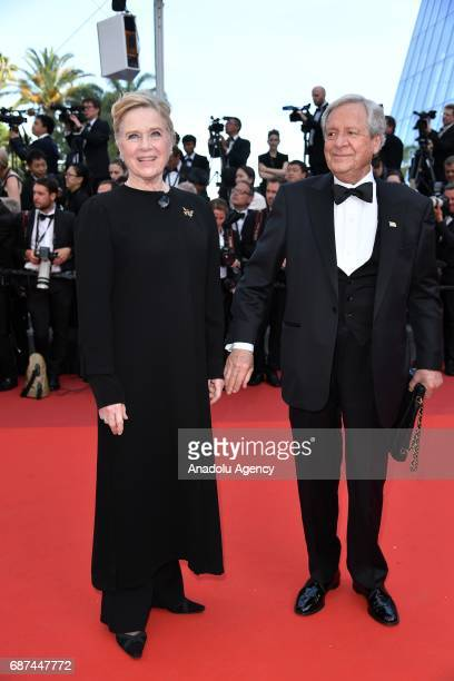 Donald Saunders and Liv Ullmann attend the 70th Anniversary Ceremony of Cannes Film Festival in Cannes France on May 23 2017