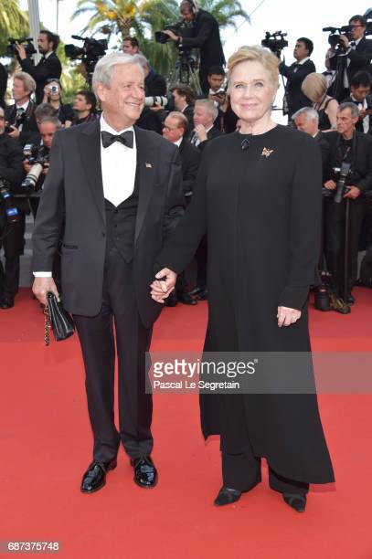 Donald Saunders and Liv Ullmann attend the 70th Anniversary of the 70th annual Cannes Film Festival at Palais des Festivals on May 23 2017 in Cannes...