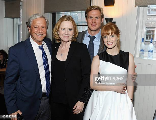 Donald Saunders director Liv Ullmann producer Teun Hilte and actress Jessica Chastain at the 'Miss Julie' world premiere party hosted by GREY GOOSE...