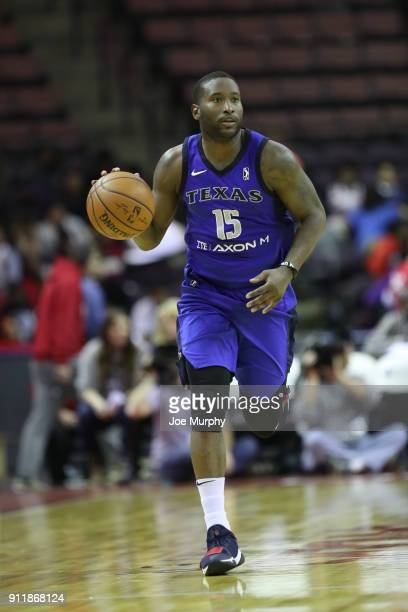 Donald Sloan of the Texas Legends handles the ball against the Memphis Hustle during an NBA GLeague game on January 29 2018 at Landers Center in...