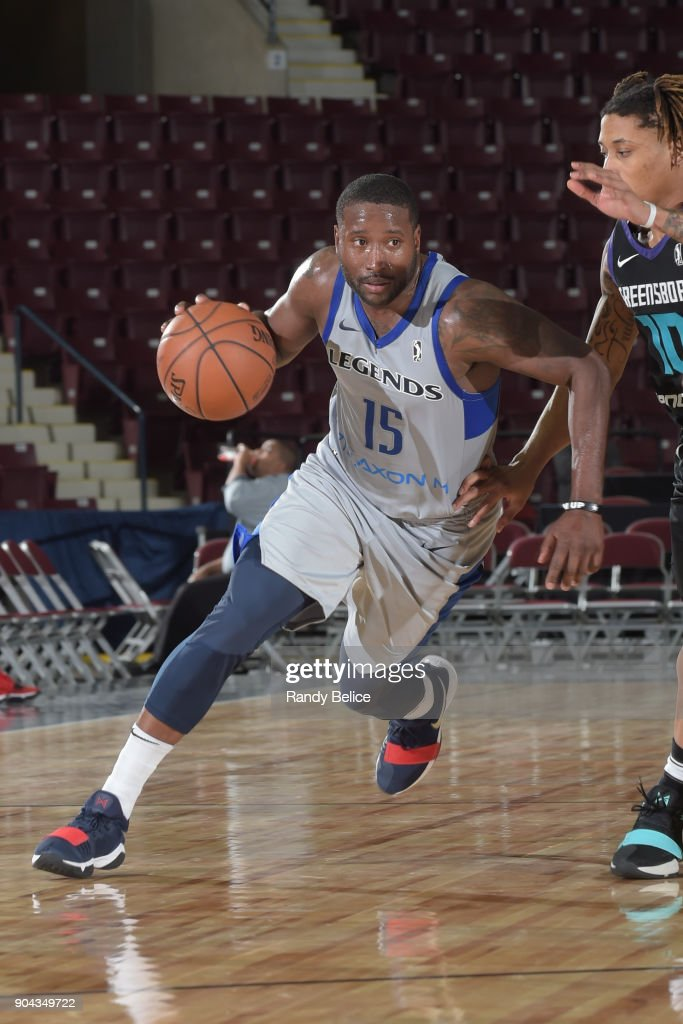 Donald Sloan #15 of the Texas Legends handles the ball against the Greensboro Swarm at NBA G League Showcase Game 17 on January 12, 2018 at the Hershey Centre in Mississauga, Ontario Canada.