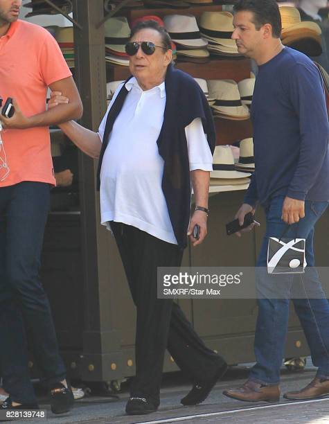 Donald Sterling is seen on August 8 2017 in Los Angeles California