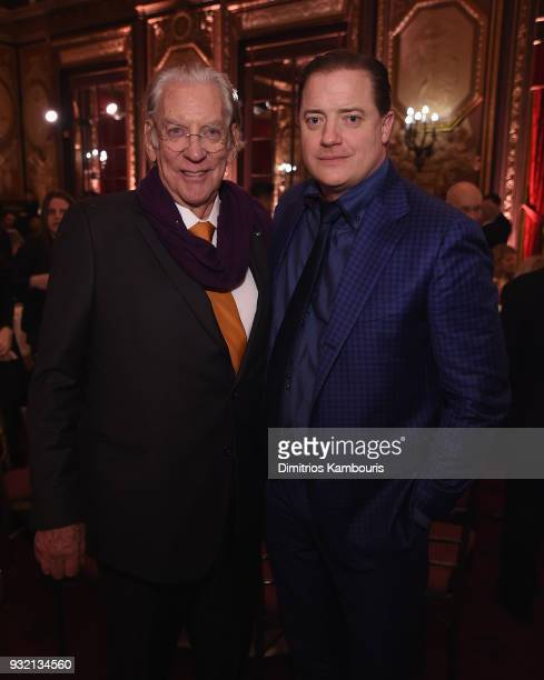 Donald Sutherland and Brendan Fraser attend FX Networks' Trust New York Screening After Party at Metropolitan Club on March 14 2018 in New York City