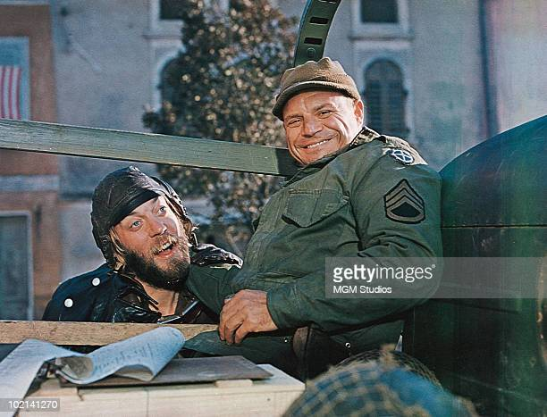 Donald Sutherland and Don Rickles in the war film 'Kelly's Heroes' directed by Brian G Hutton 1970