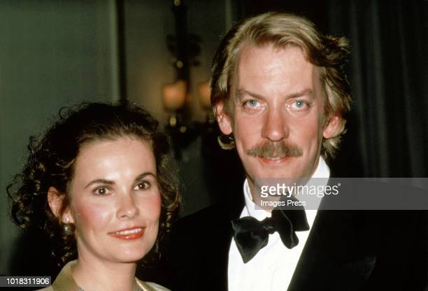 Donald Sutherland and Francine Racette circa 1981 in New York