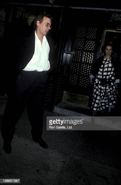 Donald Sutherland and Francine Racette sighted on October 1 1984 at Elaine's Restaurant in New York City