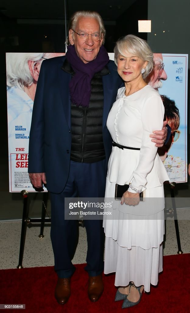 Donald Sutherland and Helen Mirren attend the premiere of Sony Pictures Classics' 'The Leisure Seeker' at Pacific Design Center on January 9, 2018 in West Hollywood, California.