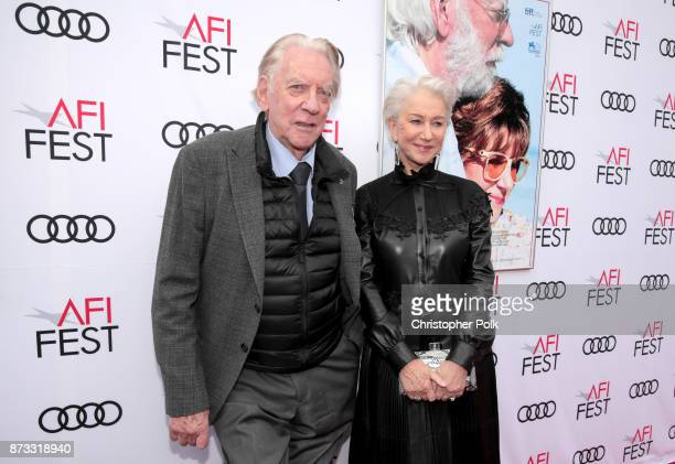 Donald Sutherland and Helen Mirren attend the screening of 'The Leisure Seeker' at AFI FEST 2017 Presented By Audi at the Egyptian Theatre on...