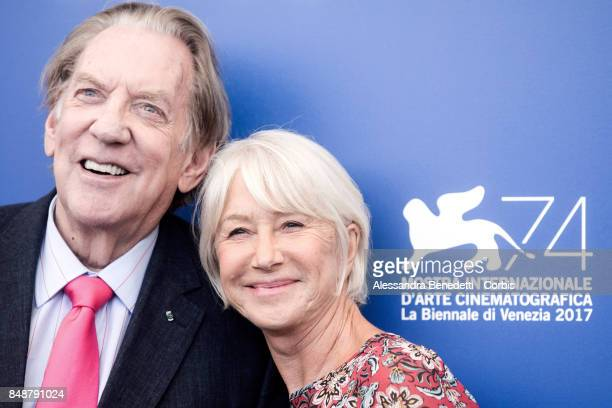 Donald Sutherland and Helen Mirren attend the 'The Leisure Seeker ' photocall during the 74th Venice Film Festival on September 3 2017 in Venice Italy