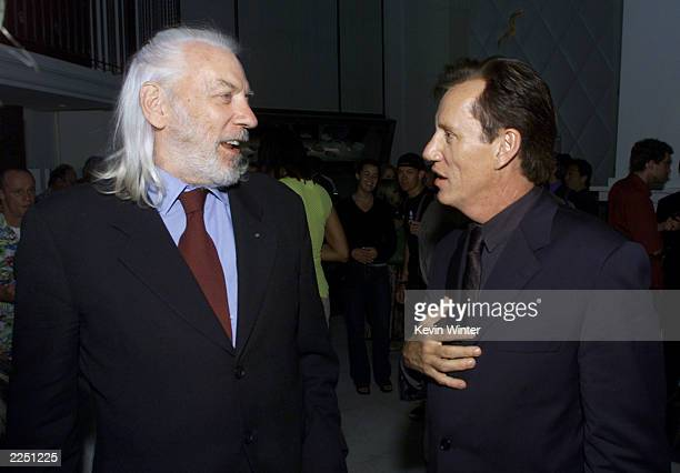 Donald Sutherland and James Woods at the premiere of 'Final Fantasy: The Spirits Within' at the Bruin Theater in Los Angeles, Ca. 7/2/01. Photo by...