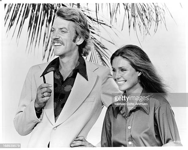 Donald Sutherland and Jennifer O'Neill in a scene from the film 'Lady Ice' 1973