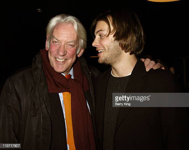 Donald Sutherland and son Angus Sutherland during Donald Sutherland Appearance at American Cinematheque Screening of 'Pride and Prejudice' October 29...