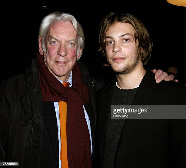 Donald Sutherland and son Angus Sutherland