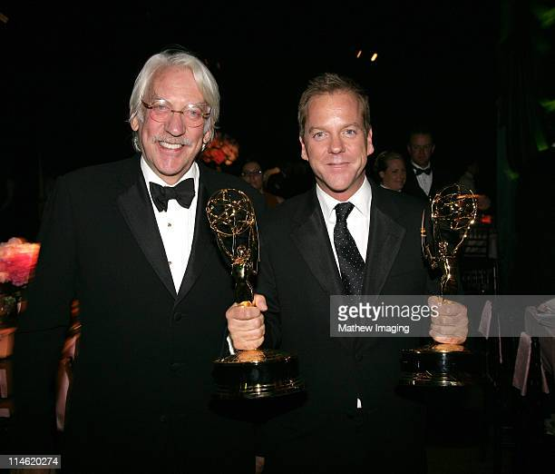 Donald Sutherland and son Kiefer Sutherland winner Outstanding Drama Series and Outstanding Lead Actor in a Drama Series for '24'