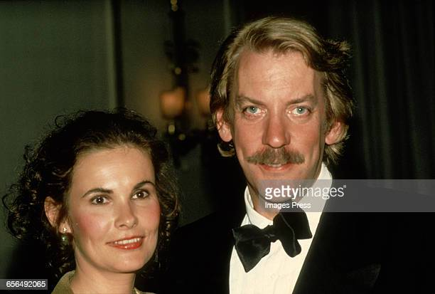 Donald Sutherland and wife Francine Racette circa 1981 in New York City